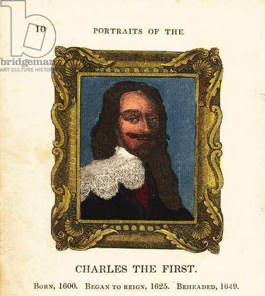 Portrait of King Charles the First, Charles I of England, born 1600, began reign 1625 and beheaded 1649