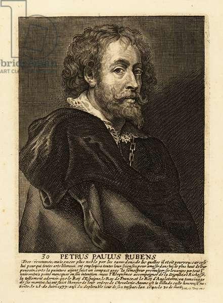 Portrait of Sir Peter Paul Rubens, Flemish artist and diplomat, 1577-1640