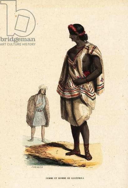 Mayan woman and man of Guatemala