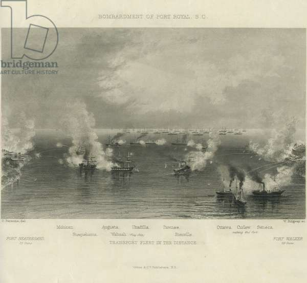 Bombardment of Port Royal, S.C., c. 1861 (engraving)