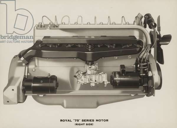 "Royal ""75"" Series Motor (Right Side), 1929 (b/w photo)"