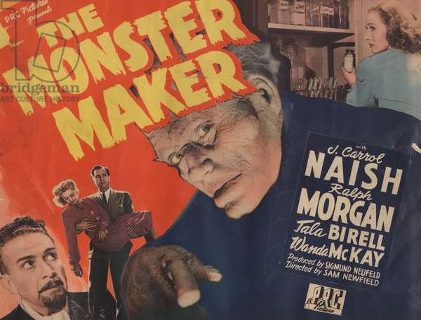Lobby card for 'The Monster Maker', 1944 (colour litho)