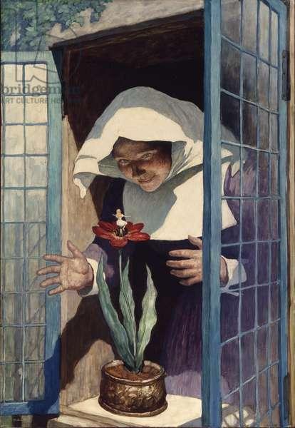 Thumbelina, 1940 (oil on Renaissance panel)