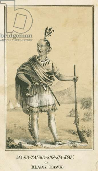 Ma Ka-Tai-Me-She-Kia-Kiak or Black Hawk, 1840 (litho)