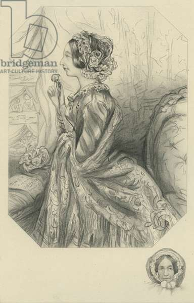 Mrs. John Dickens - Mother of Charles Dickens (etching)