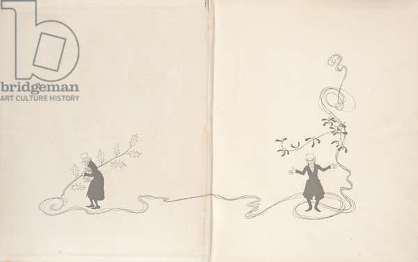 Front Endpapers - A Christmas Carol, 1915 (litho)