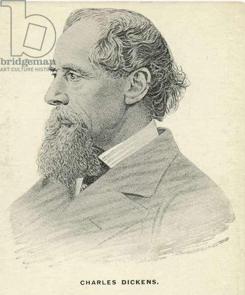 Charles Dickens Postcard (litho)