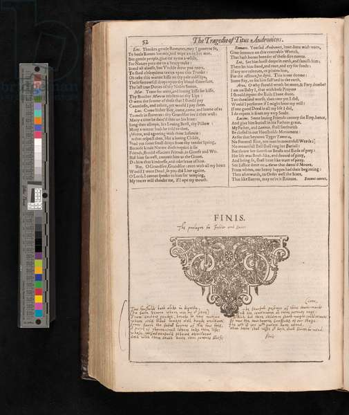 Romeo and Juliet prologue from Shakespeare First Folio, c.1623 (codex)