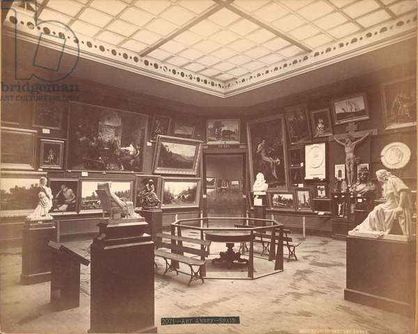 View of the Art Annexe in the Spanish Section of the Centennial Exposition, 1876 (albumen print)