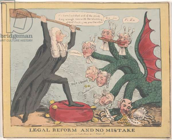 Legal Reform and Make No Mistake [Brougham] (colour litho)