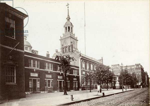Independence Hall, Chestnut Street, South Side between 5th and 6th Streets, 1898 (b/w photo)