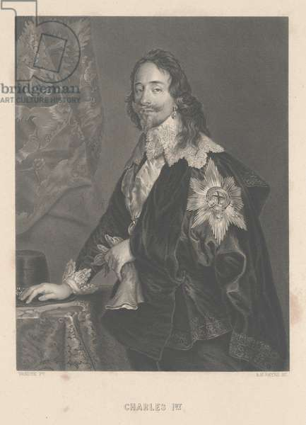 Charles I, engraved by A.H. Payne (engraving)