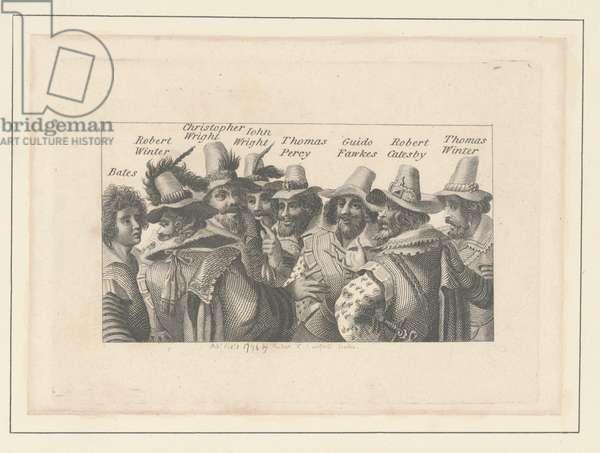 Conspirators in the Gun Powder Plot, 1794 (engraving)