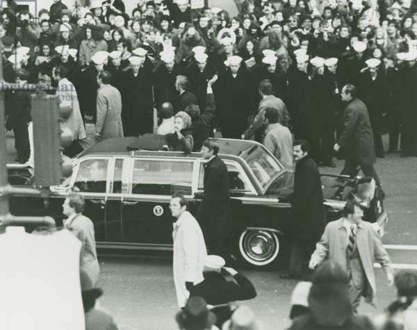 President and Mrs. Nixon, 20th January, 1973 (b/w photo)
