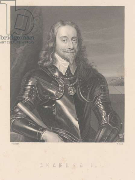Charles I, engraved by W. Hall (engraving)