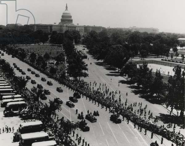 Franklin D. Roosevelt's inaugural parade, 20th January 1941 (b/w photo)