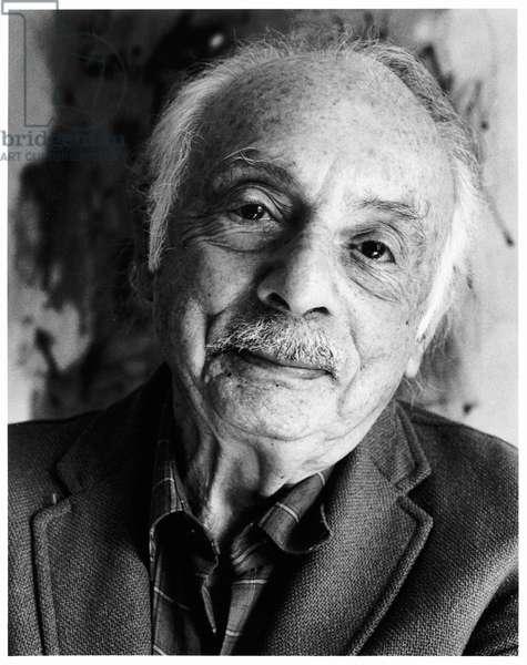 Stanley Kunitz, New York City, 1986 (b/w photo)