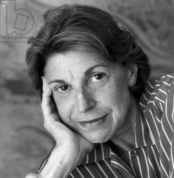 Helen Frankenthaler, Stamford, Conneticut, 1991 (b/w photo)