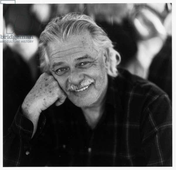 John Chamberlain, Sag Harbor, New York, 1992 (b/w photo)