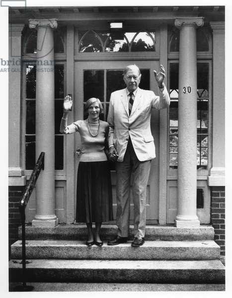 John Kenneth Galbraith, Boston, 1994 (b/w photo)
