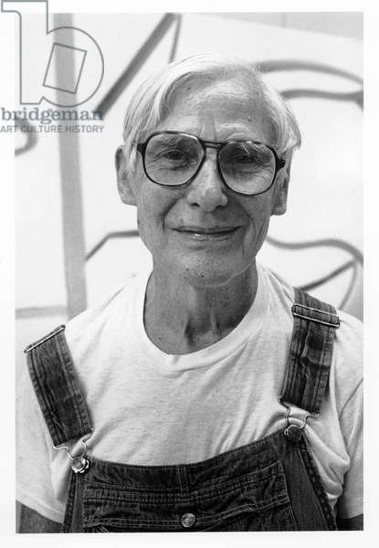 Willem de Kooning, East Hampton, New York, 1985 (b/w photo)