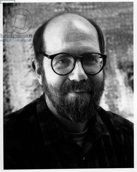 Chuck Close, New York City, 1985 (b/w photo)