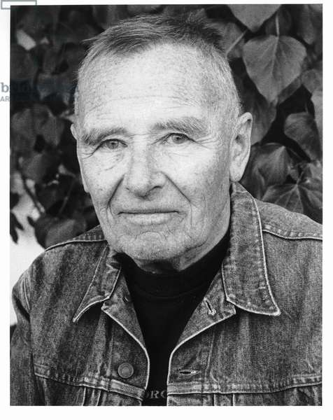 Christopher Isherwood, Santa Monica, California, 1984 (b/w photo)