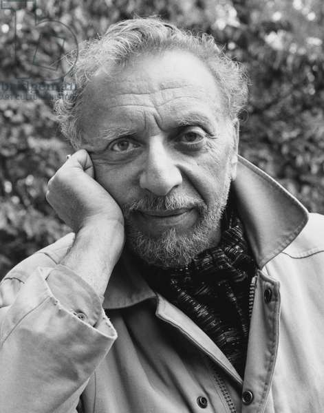 Armand Schwerner, New York City, 1985 (b/w photo)