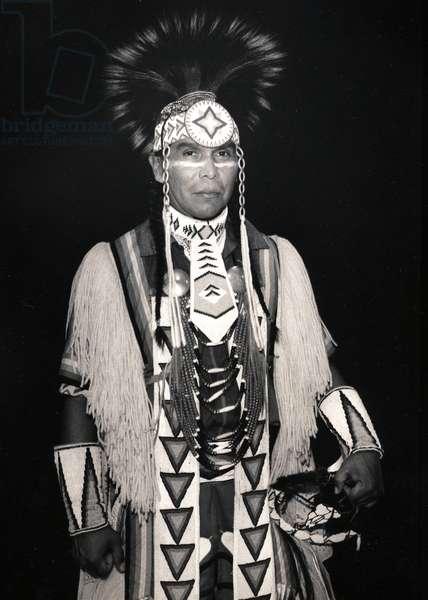 Native American (b/w photo)