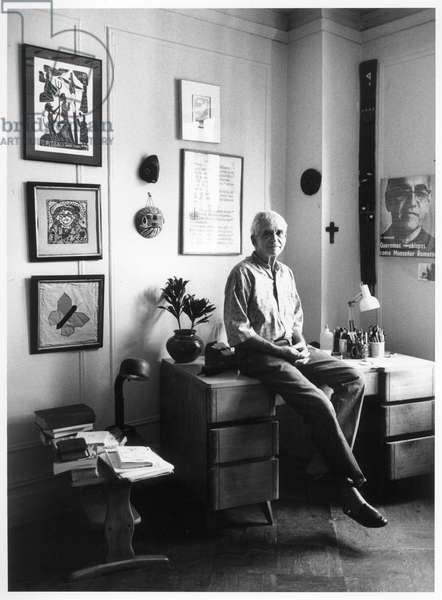 Daniel Berrigan, New York City, 1995 (b/w photo)