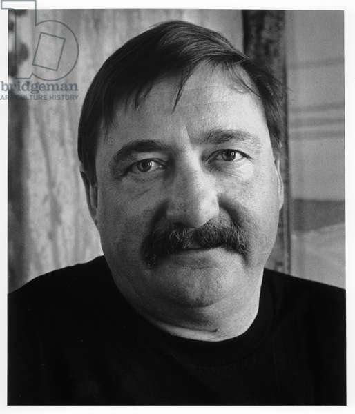 Dan Christensen, New York City, 1985 (b/w photo)