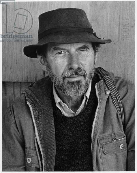 Robert Creeley (b/w photo)
