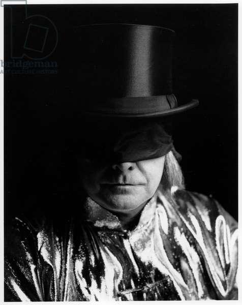 James Lee Byars, Venice, Italy, 1990 (b/w photo)