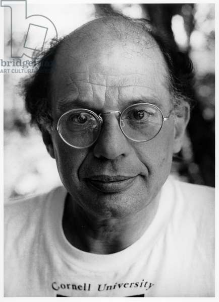 Allen Ginsberg, Boulder, Colorado, 1981 (b/w photo)