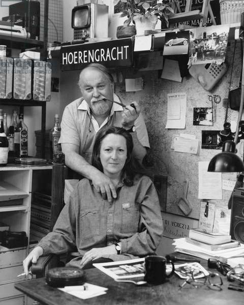 Edward and Nancy Kienholz, Berlin, Germany, 1989 (b/w photo)