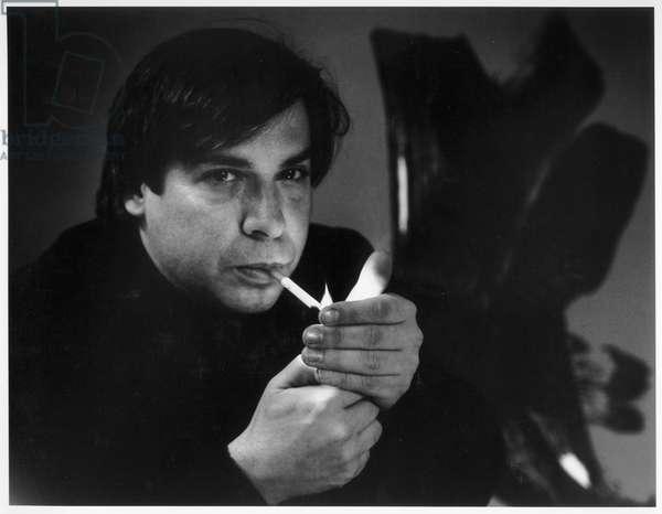 George Condo, New York City, 2000 (b/w photo)