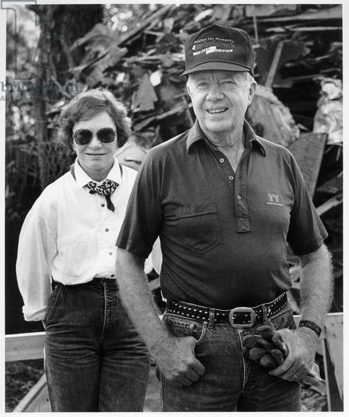 Jimmy and Rosalynn Carter, Americus, Georgia, 1994 (b/w photo)