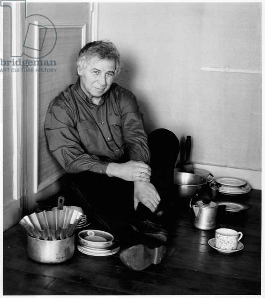 Ilya Kabakov, Paris, France, 1989 (b/w photo)