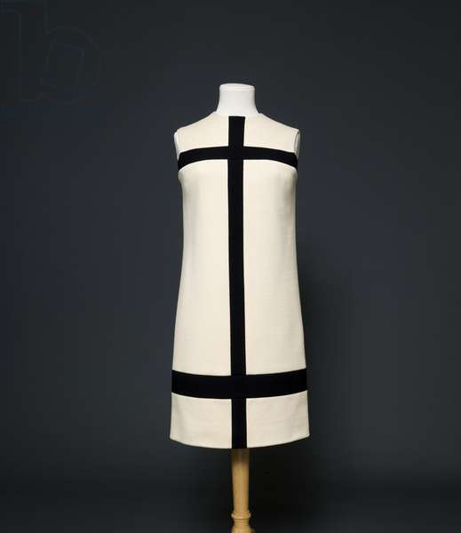 Margot Fonteyn's dress designed by Yves Saint Laurent, 1965 (wool jersey)