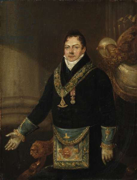 Augustus Frederick, Duke of Sussex as Grand Master, 1827 (oil on Canvas)