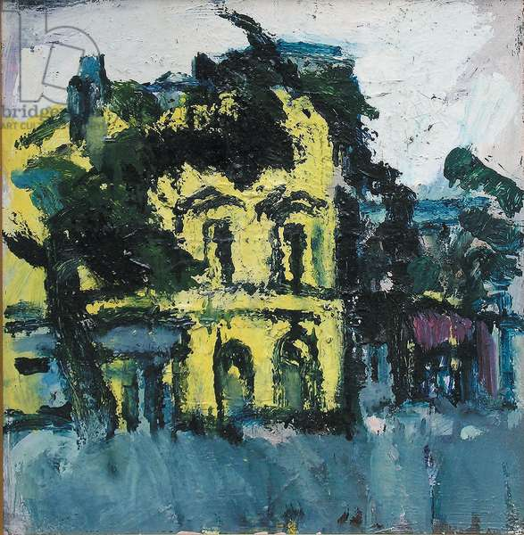 The Yellow House (oil on board)
