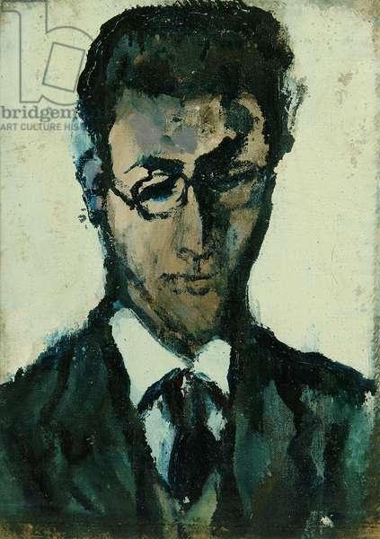 Portrait of Julius Woodrow (oil on sackcloth)