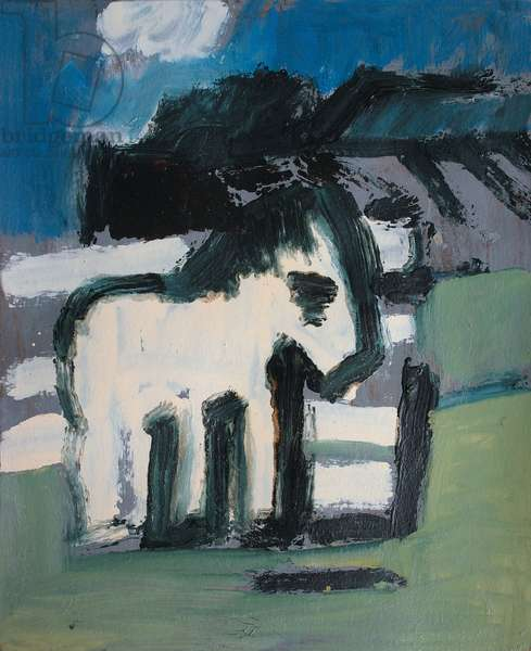 The White Pony (oil on board)