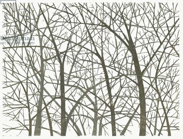 Branches I, 2007 (woodcut)