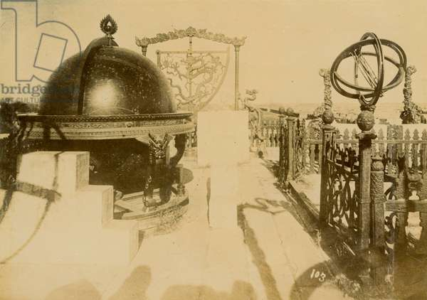 Ancient astronomical instruments, Peking, early 20th century