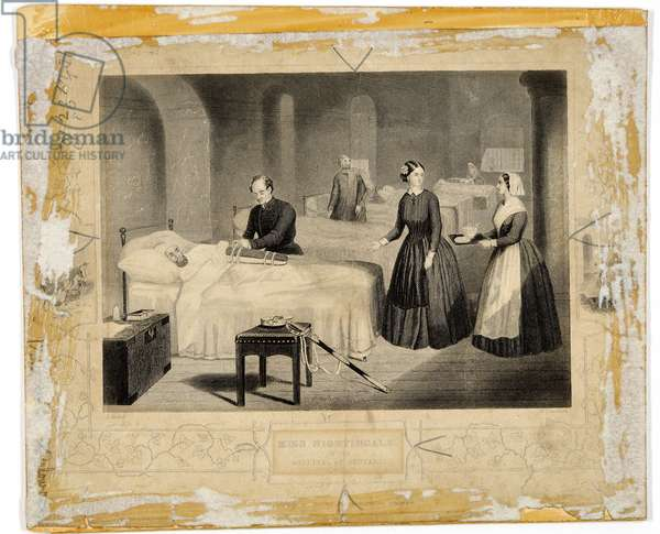 Miss Nightingale in the hospital at Scutari (engraving)