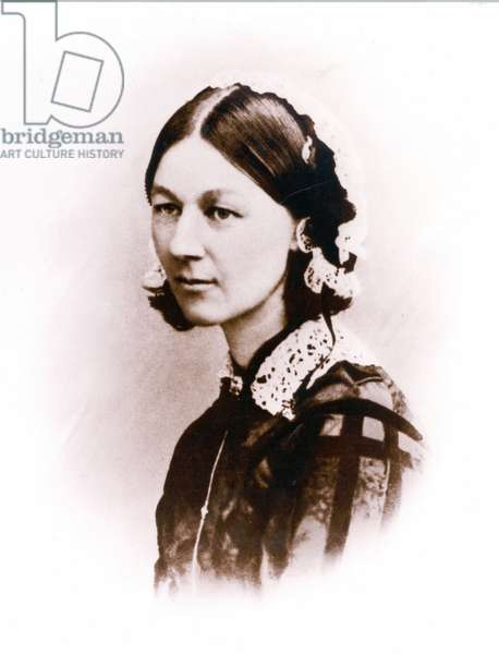 Carte de Visite photograph of Florence Nightingale, by H. Lenthall, c.1856 (b/w photo)