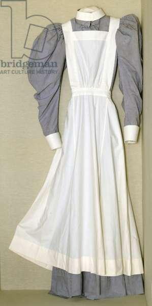 Part of a nursing uniform belonging to Helen Riddick while at the Nightingale Training School at St. Thomas' Hospital, c.1896 (cotton)