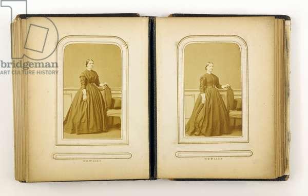 Photograph album containing 31 carte de visite, 1867 (b/w photo)