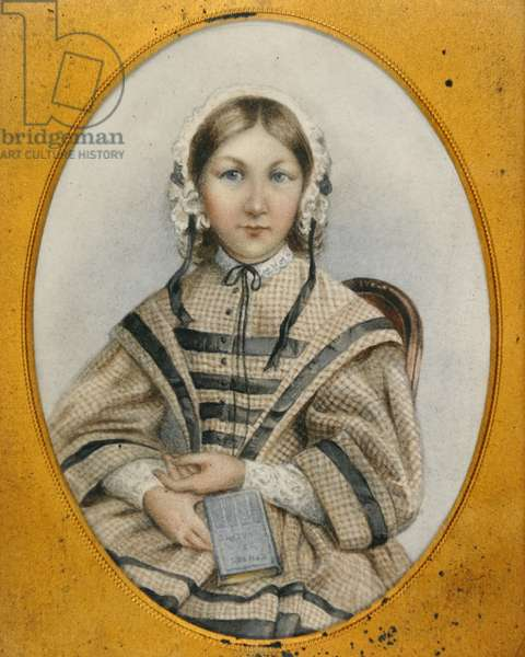 A young Florence Nightingale in an oval frame (miniature)